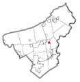 Map of Tatamy, Northampton County, Pennsylvania Highlighted.png