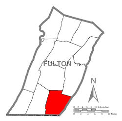 Location of Thompson Township in Fulton County