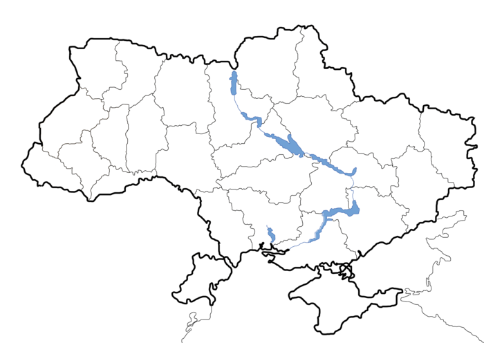 Map of Ukraine political simple blank.png