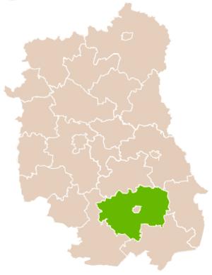 Zamość County - Image: Mapa Pow Zamojski