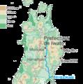 Mapa del río Kitakami.png