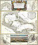 Mapa geographica completens Indiae Occidentalis