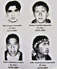 cf8ddd002 Mapuche activists killed in confrontations with the Chilean police in the  2000s.