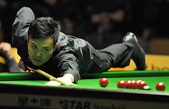 Marco Fu - Image: Marco Fu at Snooker German Masters (Der Hexer) 2013 02 03 05
