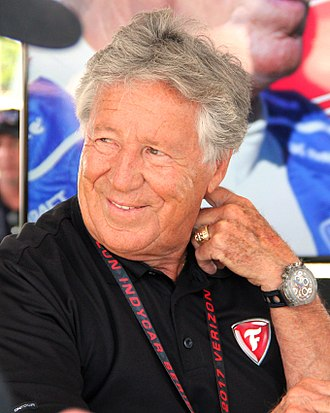 Mario Andretti - Andretti at the Indianapolis 500 race in 2017