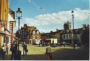 English: Market Place, Melton Mowbray. Melton ...