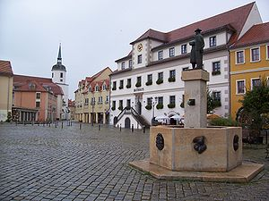 Hoyerswerda - View at the Old Town's Market Square