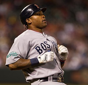 Marlon Byrd - Byrd during his tenure with the Boston Red Sox in 2012