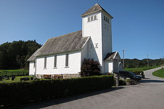 Marvik Chapel Church in Rogaland, Norway