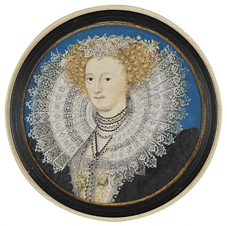 Mary Sidney - Portrait of Mary Herbert née Sidney, by Nicholas Hilliard, c. 1590