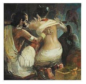 John Wilkins (Indian artist) -  Masseur by John Wilkins