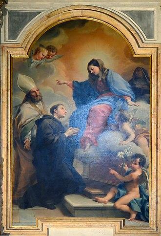 Mellini Chapel (Santa Maria del Popolo) - The altarpiece by Agostino Masucci