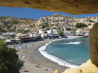 Matala, Crete - View of town
