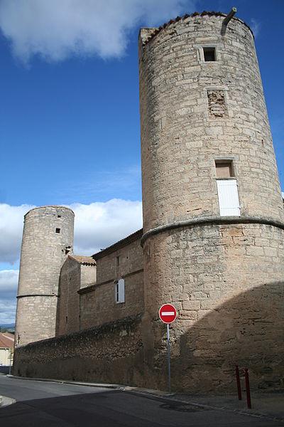 Maureilhan (Hérault) - château, façade sud.