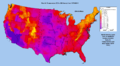 Max Air Temperature F for US County from 1979-2011.png