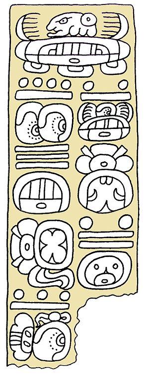 Mazatán, Chiapas - Long date of  9.7.15.0.0. on a stela from Ojo de Agua, Chiapas