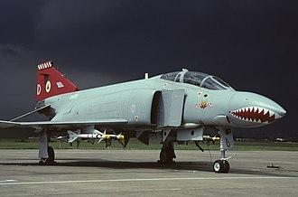 No. 56 Squadron RAF - No. 56 (F) Squadron McDonnell Douglas Phantom FGR.2 (XV470) at RAF Wattisham, 1992.