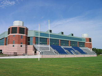 Meade Stadium - 2008, Visitor Stands built into side of Ryan Center.
