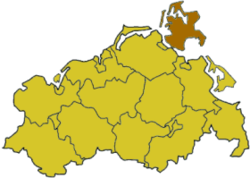 position of Rügen