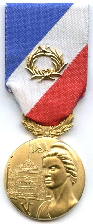 Medal for internal security - Image: Medaille de la securite interieure