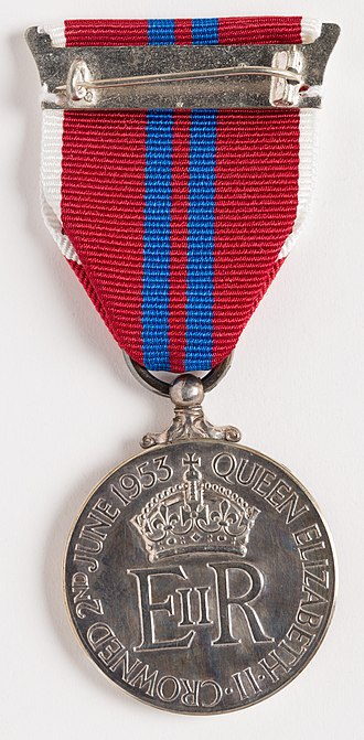 Queen Elizabeth II Coronation Medal - Image: Medal, coronation (AM 2014.7.6 11)