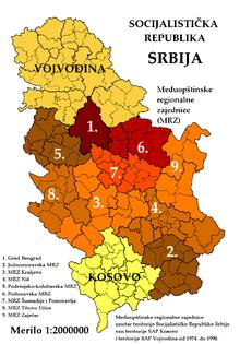 Medjuopstinske regionalne zajednice Socijalisticke Republike Srbije