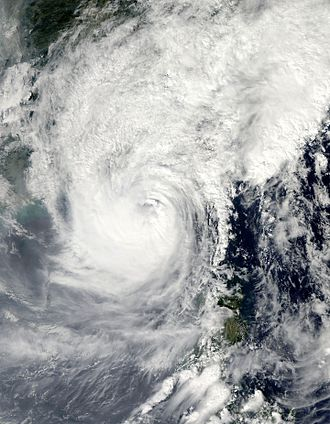Typhoon Megi (2010) - Typhoon Megi approaching China on October 22