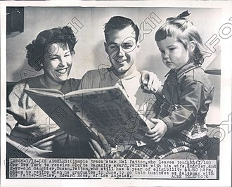 Mel Patton - Image: Mel Patton with family 1949