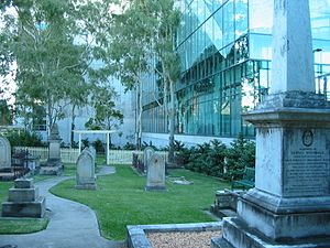 North Brisbane Burial Ground - Memorial reserve, Christ Church, Milton, 2005