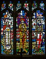 Memorial stained glass window, St Clements church (geograph 4046112).jpg