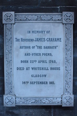 James Grahame - Memorial to Rev James Grahame, Glasgow Cathedral