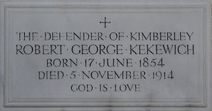 Robert Kekewich - Memorial in Exeter Cathedral