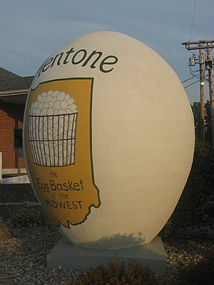 """Mentone, Indiana - The """"Largest Egg in the World"""""""