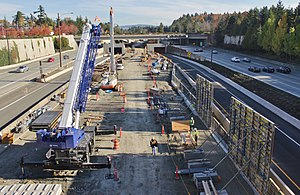 Mercer Island Link station construction, October 2017.jpg