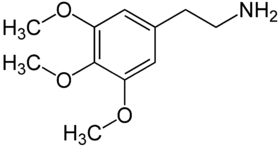 Chemical structure of mescaline