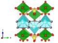 Meta-autunite - Makarov E S, Ivanov V I Doklady Akademii Nauk SSSR 132 (1960) 601-603 The crystal structure of meta-autunite, Ca(UO2)2(PO4)2x6H2O a-axis.png