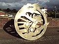 Metal sculpture, Chester Road, Mold.JPG