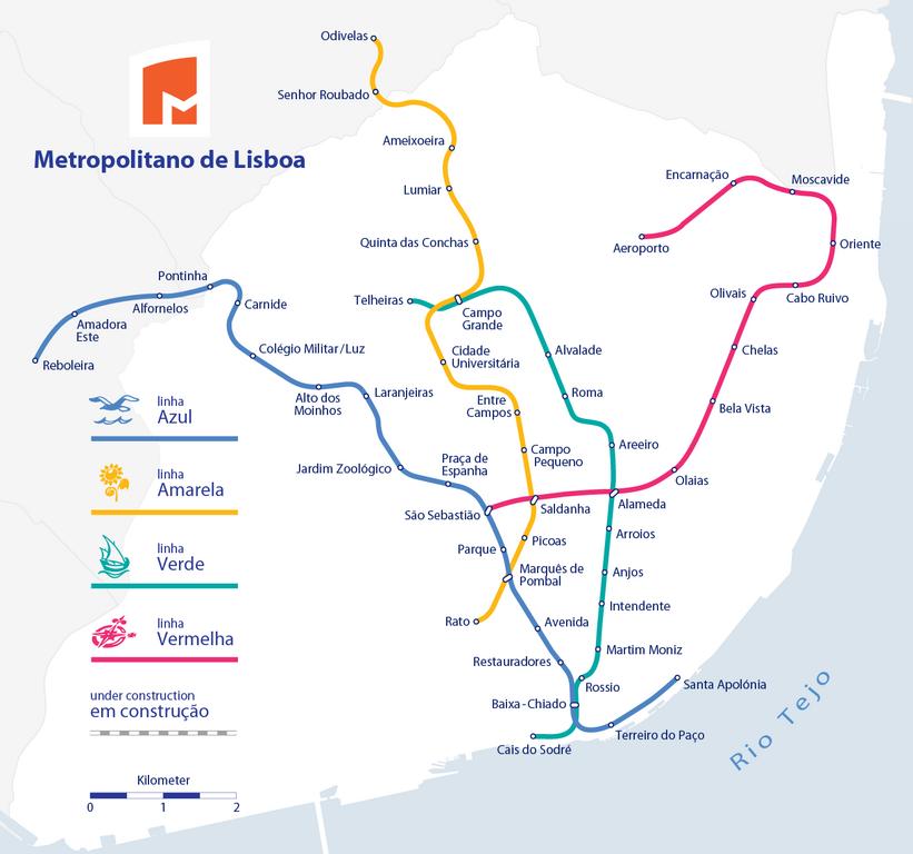 Réseau de métro de Lisbonne