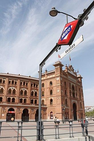 Ventas (Madrid Metro) - Image: Metro de Madrid Ventas 01