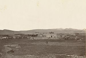 Cubero, New Mexico - The Mexican town of Cubero, ca. 1867