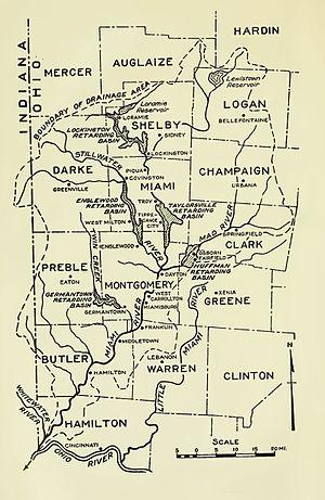 Miami Valley - Map of Miami Valley (1919)
