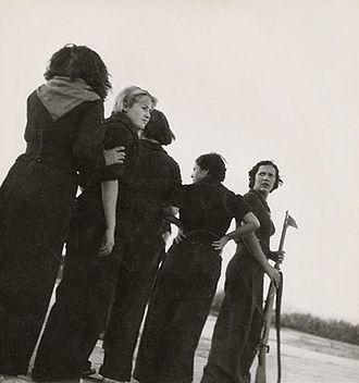 Revolutionary Catalonia - Women training for a Republican militia outside Barcelona, August 1936.