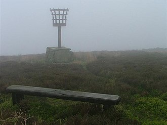Eskdaleside cum Ugglebarnby - A misty day at the Millennium Beacon in Eskdaleside, below Black Brow