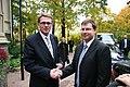 Ministru prezidents Valdis Dombrovskis tikās ar Somijas premjerministru Matti Vanhanenu (3994847387).jpg