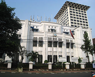 Ministry of Transportation (Indonesia) - Image: Ministry of Transportation Building, Merdeka Timur