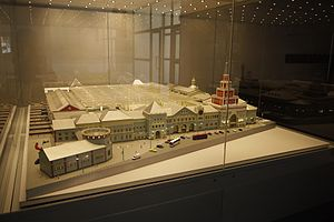 Moscow Kazanskaya railway station - Image: Model of Kazansky Rail Terminal