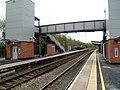 Modern footbridge at Leominster railway station (geograph 3681484).jpg