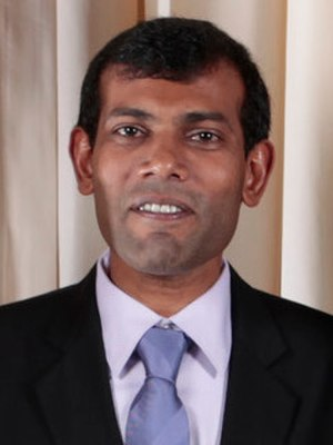 Maldivian presidential election, 2013 - Image: Mohamed Nasheed cropped