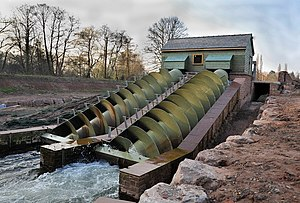 Monmouth New Hydro Scheme - The power station in March 2009