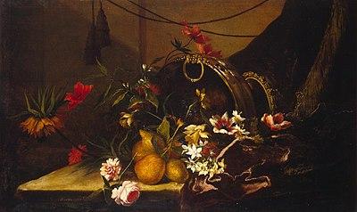 Весняні квіти і фрукти
